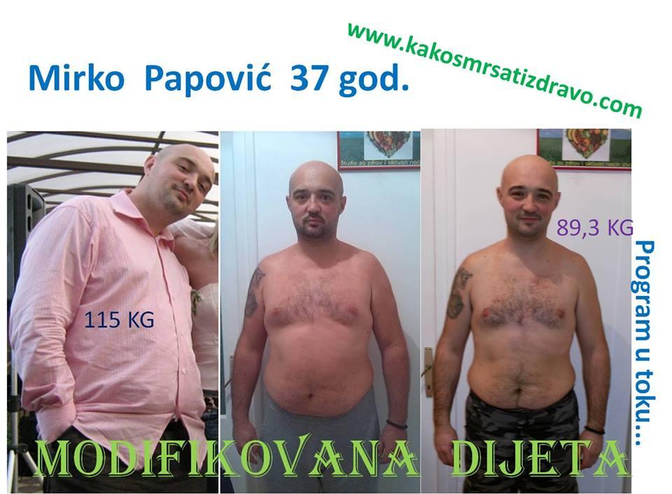 Mirko Papovic - Gubitak kilograma uz modifikovanu dijetu